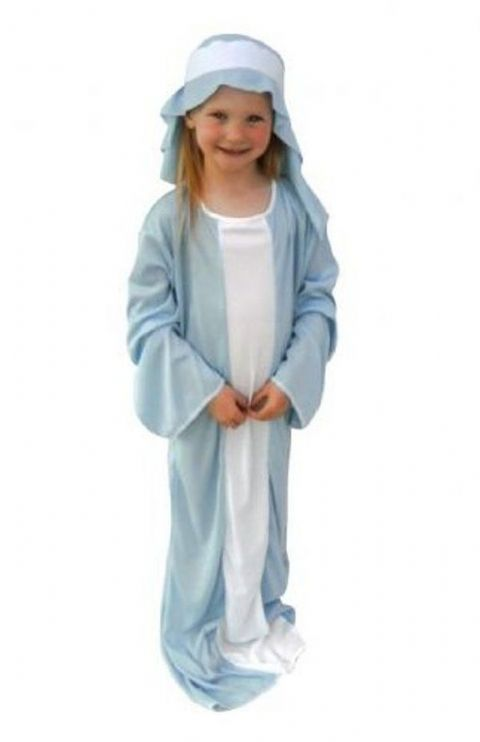 Girls Mary Christmas Fancy Dress Costume (Age 9 - 12)